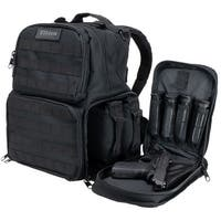 Elkton Outdoors Firearm Range Backpack With Removable Firearm Pouches & Molle Webbing