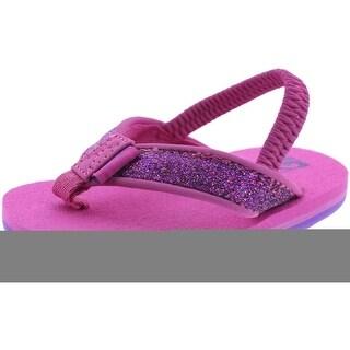Teva Mush II Flip Flops Glitter Baby Girls