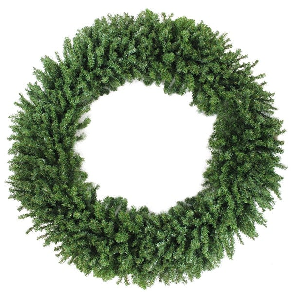 7' Commercial Size Canadian Pine Artificial Christmas Wreath - Unlit - green