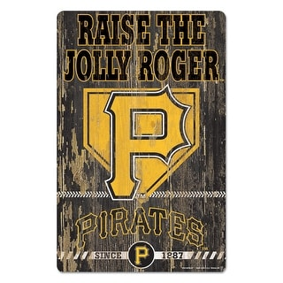 Pittsburgh Pirates Sign 11x17 Wood Slogan Design