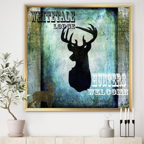 Designart 'Lodge Whitetale Lodge' Cottage Framed Art Print