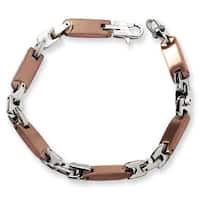 Chisel Stainless Steel Brown Color IP-plated Bracelet