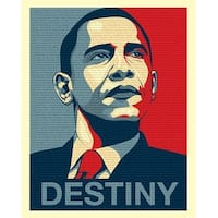 ''Obama: Destiny Speech'' by Anon African American Art Print (20 x 16 in.)