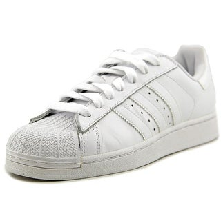 Adidas Superstar II Men Round Toe Leather White Sneakers