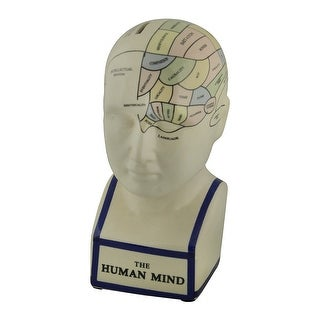 Link to Map of Human Mind Colored Ceramic Psychology Bust Coin Bank Brain Statue Room Decor Sculpture Similar Items in Collectibles