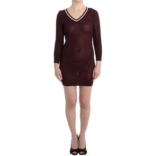 Galliano Purple knitted wool dress - S