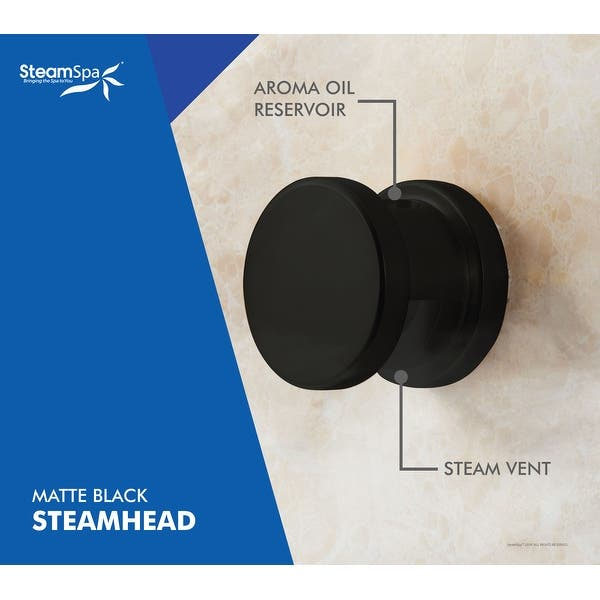 Steamspa Indulgence 6 Kw Quickstart Acu Steam Bath Generator With Built In Auto Drain In Matte Black Overstock 31673960