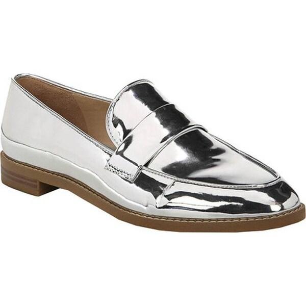 83f689fec02 Franco Sarto Women  x27 s Hudley Loafer Silver Liquid Metallic Polyurethane