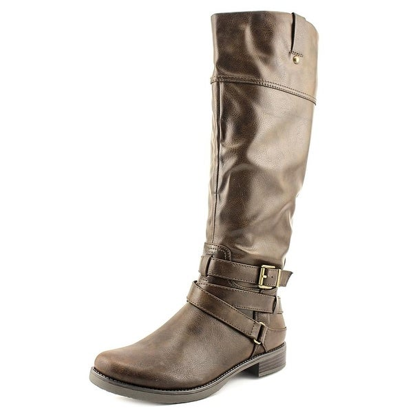 Madeline Surprised Women Round Toe Synthetic Knee High Boot