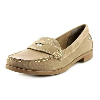 Hush Puppies Iris Sloan W Round Toe Suede Loafer