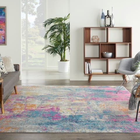 Nourison Passion Bohemian Modern Abstract Multicolor Area Rug