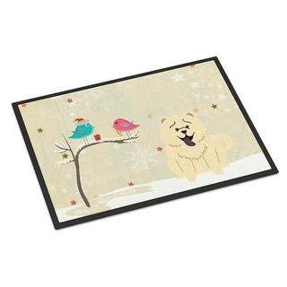 Carolines Treasures BB2612MAT Christmas Presents Between Friends Chow Chow White Indoor or Outdoor Mat 18 x 0.25 x 27 in.