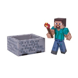 "Minecraft 3"" Action Figure: Steve with Minecart Pack - multi"