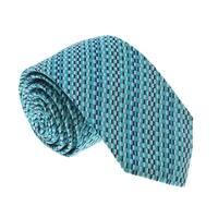 Missoni U5299 Green/Silver Check 100% Silk Tie - 60-3
