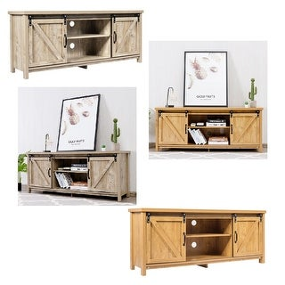 Link to Costway TV Stand Media Center Console Cabinet Sliding Barn Door for Similar Items in TV Stands & Entertainment Centers