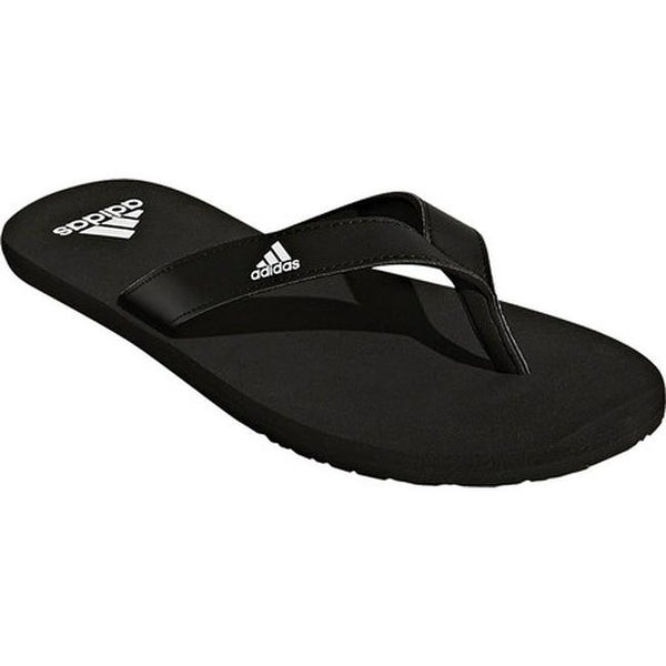 26999cd7b Shop adidas Men s Eezay Essence Thong Sandal Black Black White ...