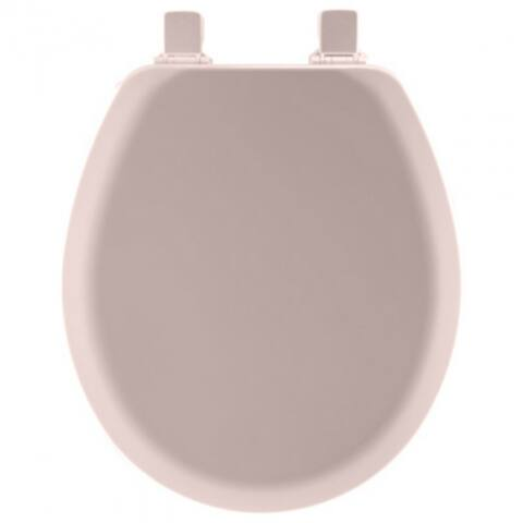 Mayfair 41EC-023 Round Molded Wood Toilet Seat w/ Easy-Clean Hinges, Pink