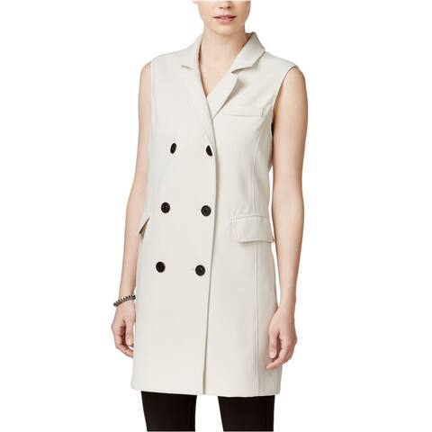 Bar Iii Womens Double-Breasted Long Fashion Vest