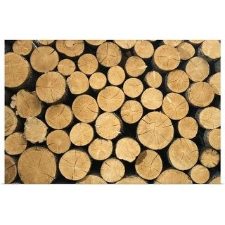 """Pile of wood"" Poster Print"