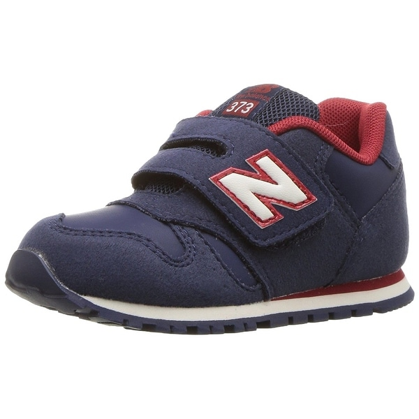 New Balance Kids' Kv373 Hook and Loop Sneaker, Navy/Red, Size 3 W US Infant