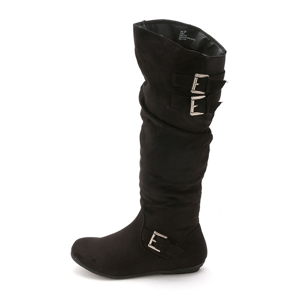 Rampage Womens CYRENE Fabric Round Toe Knee High Fashion Boots