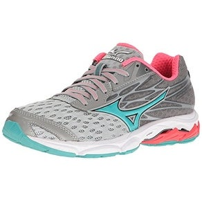 Mizuno Women's Wave Catalyst 2 Running Shoe, Grey/Mint, 9.5 B US