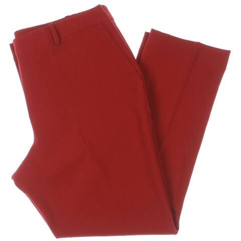 Tahari ASL Womens Dress Pants Crepe Office - Red - 14