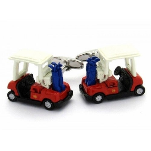 Golf Cart Golfer Golfing Golf Course Cufflinks