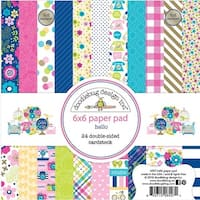 """Hello; 12 Designs/2 Each - Doodlebug Double-Sided Paper Pad 6""""X6"""" 24/Pkg"""