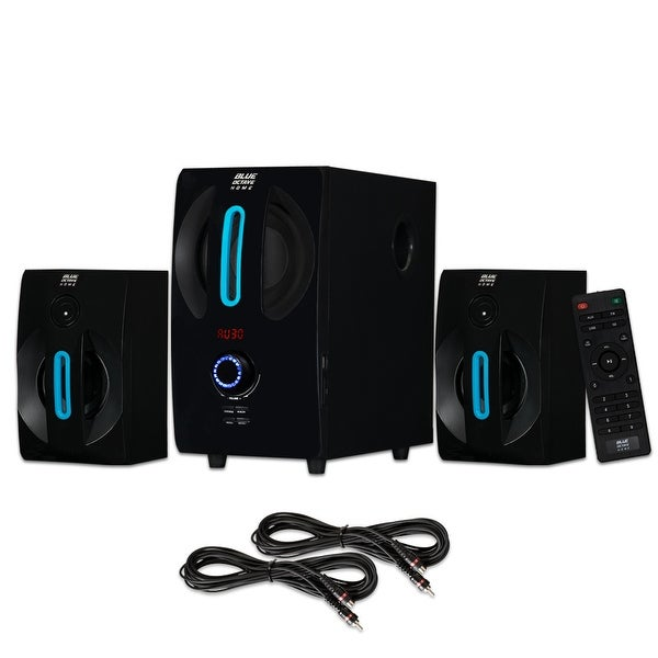 Blue Octave B22 Home 2.1 Powered Speaker System with USB / SD and 2 Ext. Cables
