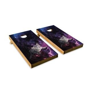 Kitten in Space Cornhole Board Set