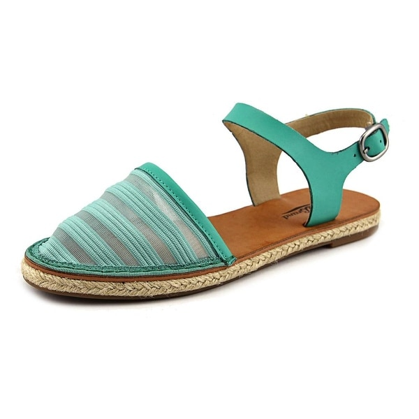 Lucky Brand Romonia2 Women Round Toe Leather Green Slingback Sandal
