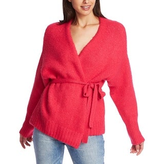 Link to 1.State Womens Cardigan Sweater Belted Jersey Strich - Rapture Pink Similar Items in Women's Sweaters