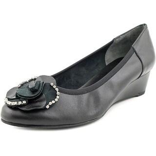 Rose Petals by Walking Cradles Abba WW Open Toe Leather Wedge Heel