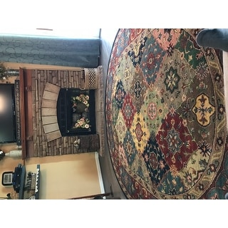 "Safavieh Handmade Heritage Timeless Traditional Red Wool Rug - 7'6"" x 9'6"" Oval"