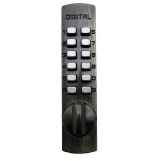 Lockey C150 Mechanical Combination Hook Bolt for Sliding Doors and Cabinets (Option: Black Finish)
