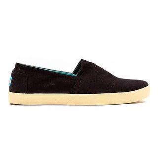 Toms Mens Avalon Sneaker Black Textile Shoes 10 US - 10 d(m) us