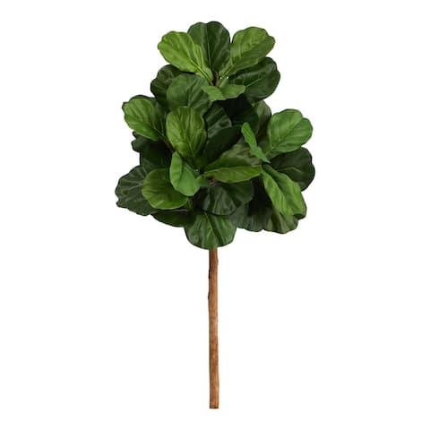 "3.5' Fiddle Leaf Artificial Tree (No Pot) - 6"""