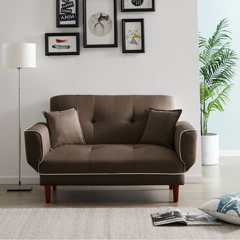 Relax Lounge Sofa Bed Sleeper With 2 Pillows.