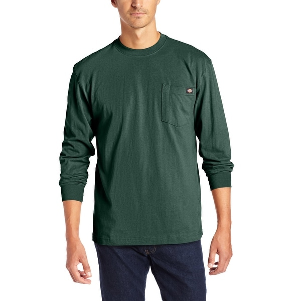 41a7a42c Shop Dickies Heavyweight Long-Sleeve Pocket Tee-Big & T - Hunter green -  Free Shipping On Orders Over $45 - Overstock - 15639788
