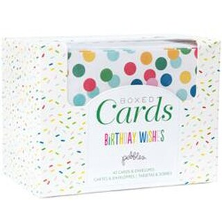 """Birthday Wishes - Pebbles A2 Cards & Envelopes (4.25""""X5.5"""") 40/Pkg"""