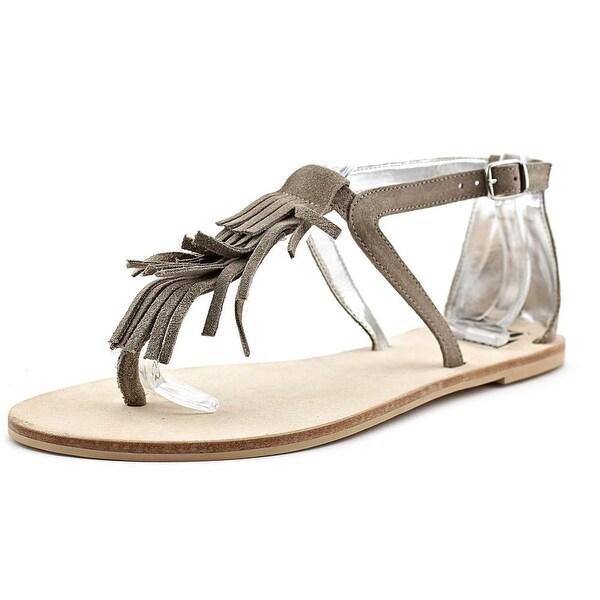 29 Porter Rd Tara Fringe Open Toe Suede Thong Sandal