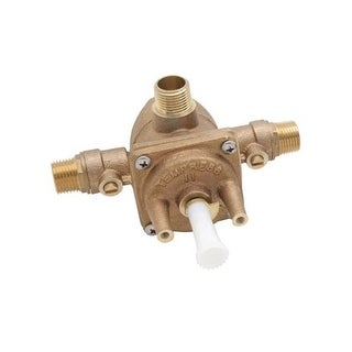 Rohl RMV-1 Hi-Flow Pressure Balanced Rough In Valve Only with Integrated Service Stop Valves - GOLD