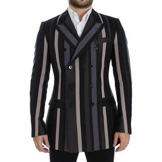 Dolce & Gabbana Multicolor striped wool slim blazer - it48-m