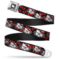 Hello Kitty W Red Bow Full Color Black Hello Kitty Multi Nerd W Dots Bows Seatbelt Belt