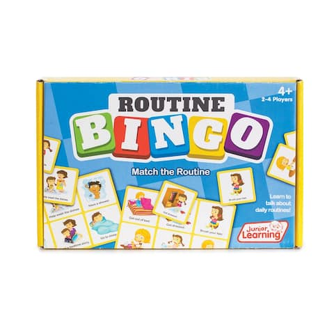 Junior Learning Routine Bingo Match & Learn Educational Learning Game