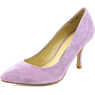 Chinese Laundry Area Women Pointed Toe Suede Purple Heels