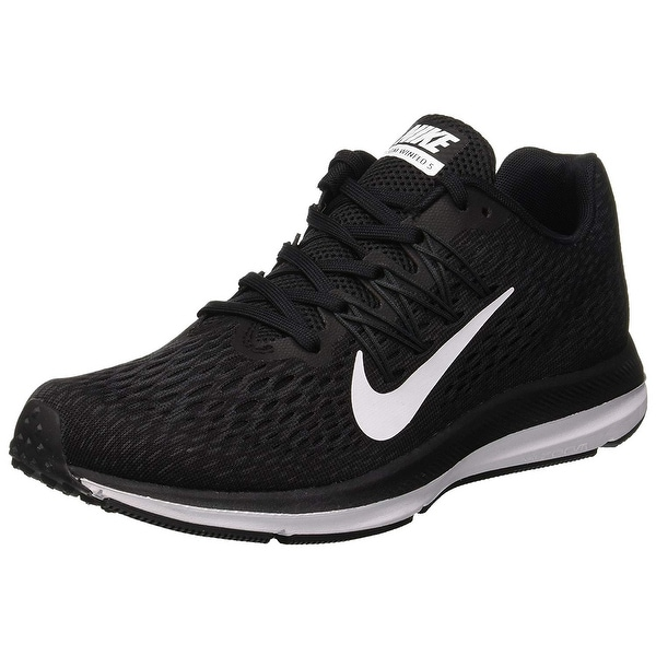 24c2cda68e97 Shop Nike Women s Air Zoom Winflo 5 Running Shoes Black White ...