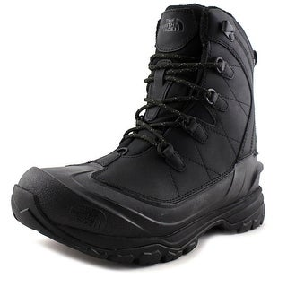 The North Face Chilkat Evo Men Round Toe Leather Black Winter Boot