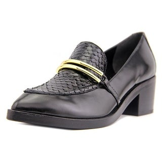 Sigerson Morrison Savana Apron Toe Leather Loafer